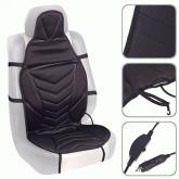 Накидка на сиденье с подогревом Vitol ZL8266 BK
